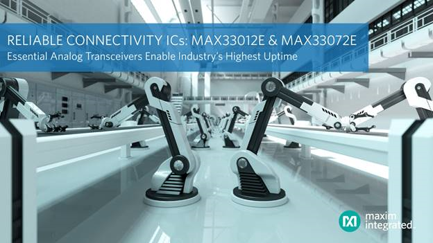Maxim 最新基础模拟收发器,加快大型网络的故障诊断