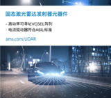 <font color='red'>ams</font>固态激光雷达+VCSEL技术助力自动驾驶发展