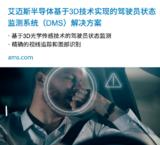 <font color='red'>ams</font>基于3D技术DMS解决方案演示模型,可精确识别驾驶员状态