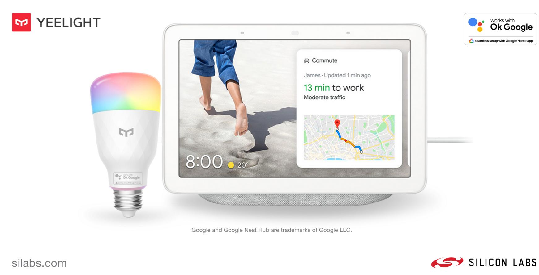 Silicon Labs联手Yeelight推出智能LED灯泡,实现更可靠无线连接