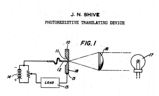 貝爾實驗室1950年3月30日宣布發明出光電晶體管