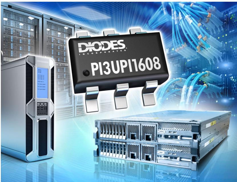 Diodes 公司推出具备内部耦合电容器的 8 通道 ReDriver